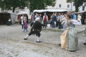 Viel Aktion auf dem Barockmarkt in Passau